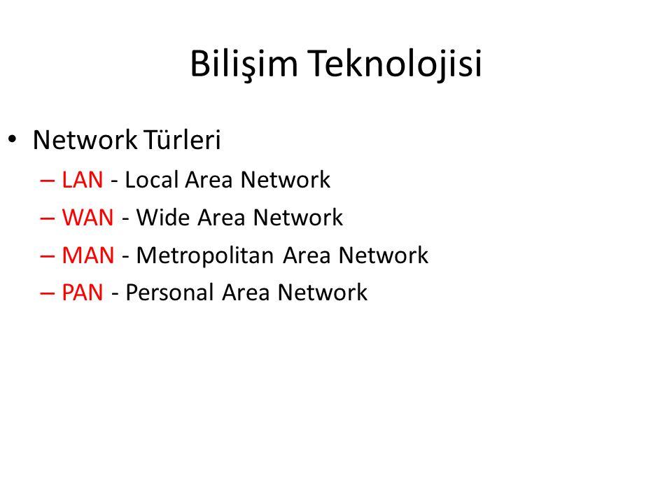 Bilişim Teknolojisi Network Türleri LAN - Local Area Network