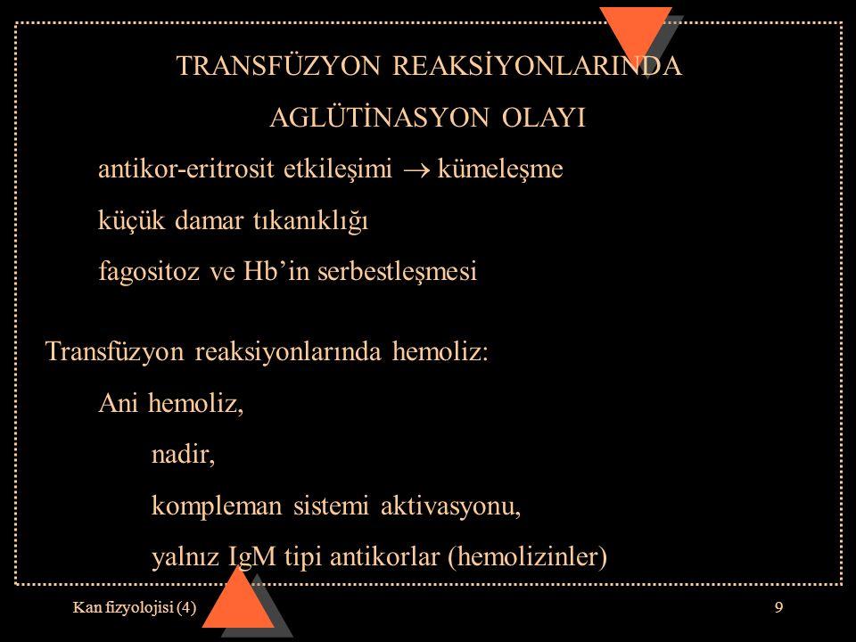 TRANSFÜZYON REAKSİYONLARINDA
