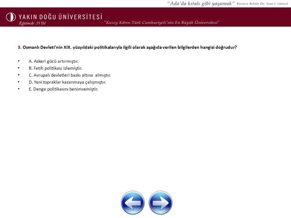 3. Osmanlı Devleti'nin XIX