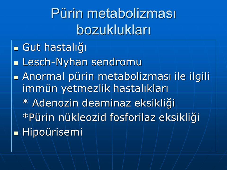 Pürin metabolizması bozuklukları