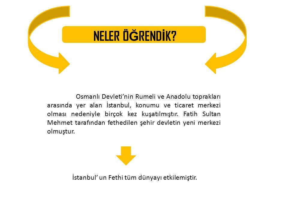 İstanbul' un Fethi tüm dünyayı etkilemiştir.