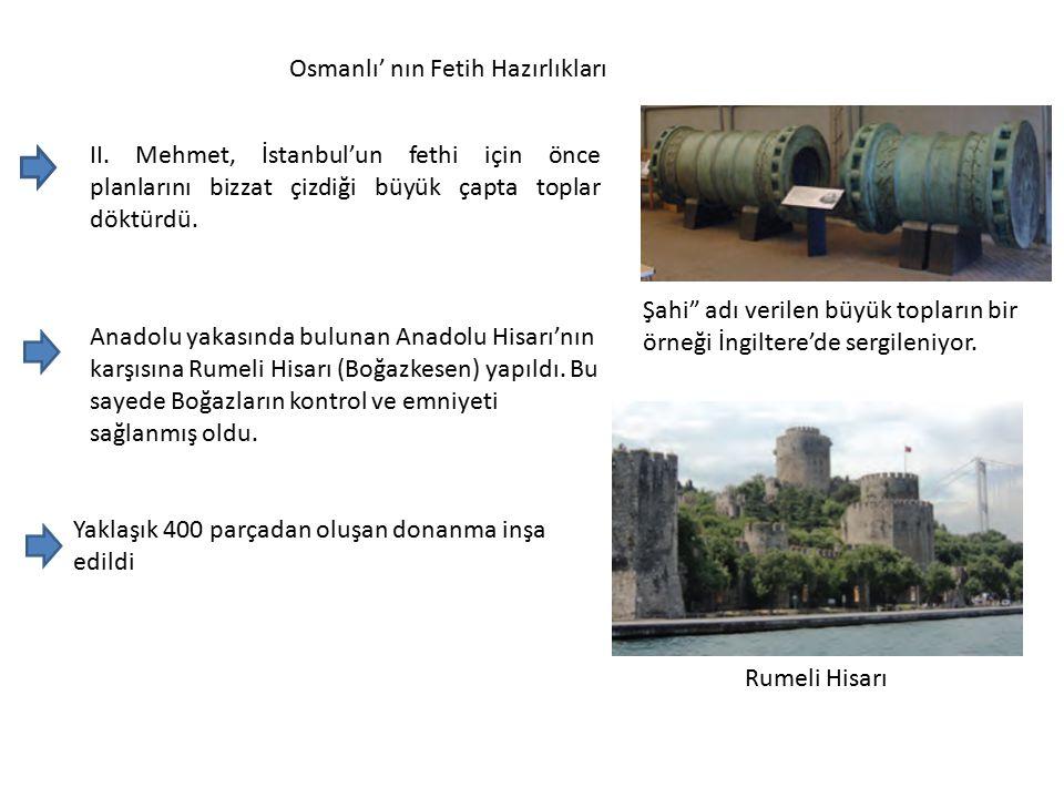 Osmanlı' nın Fetih Hazırlıkları