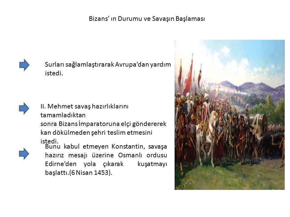 Bizans' ın Durumu ve Savaşın Başlaması