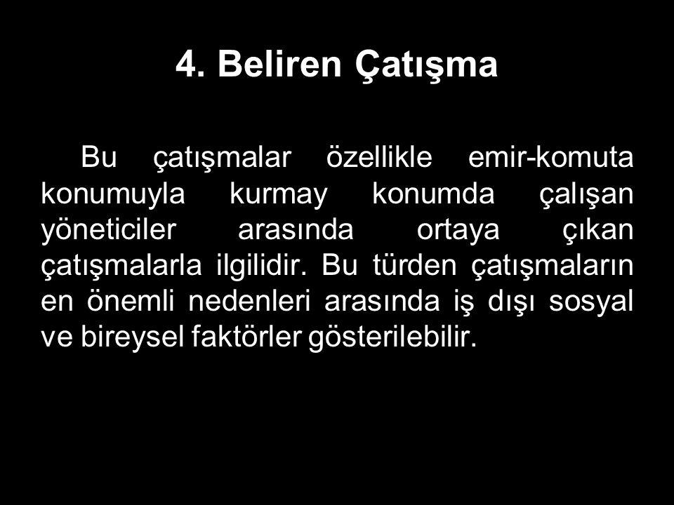 4. Beliren Çatışma
