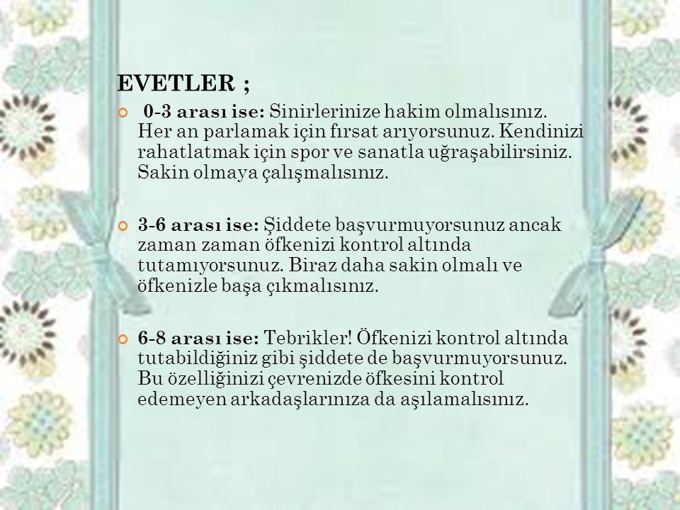EVETLER ;