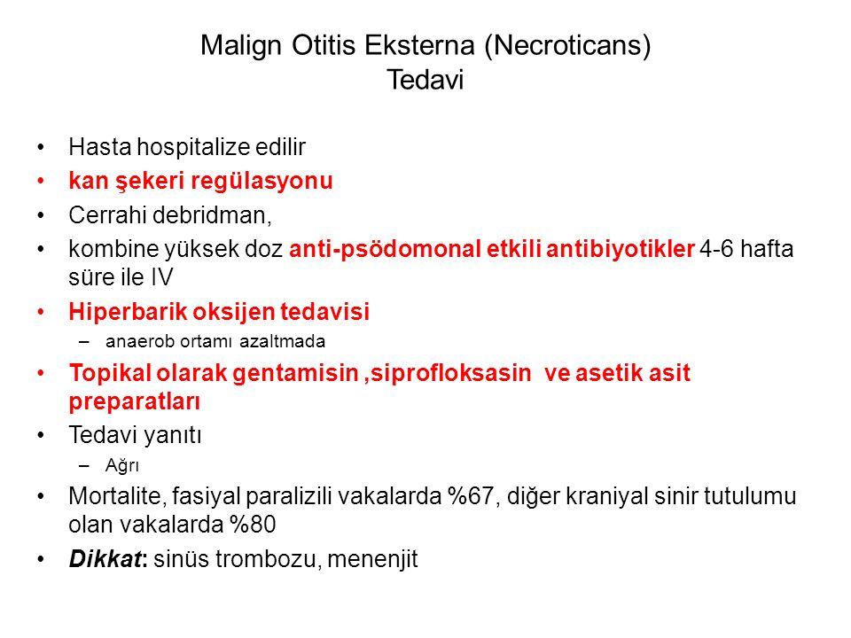 Malign Otitis Eksterna (Necroticans) Tedavi