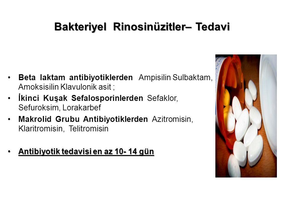 Bakteriyel Rinosinüzitler– Tedavi