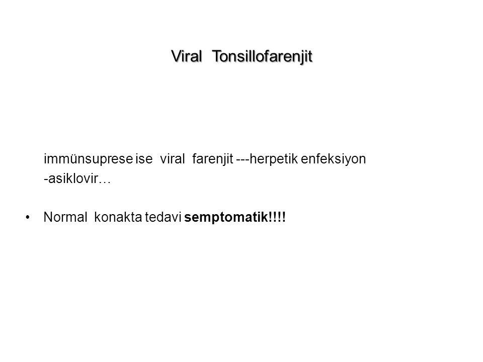 Viral Tonsillofarenjit