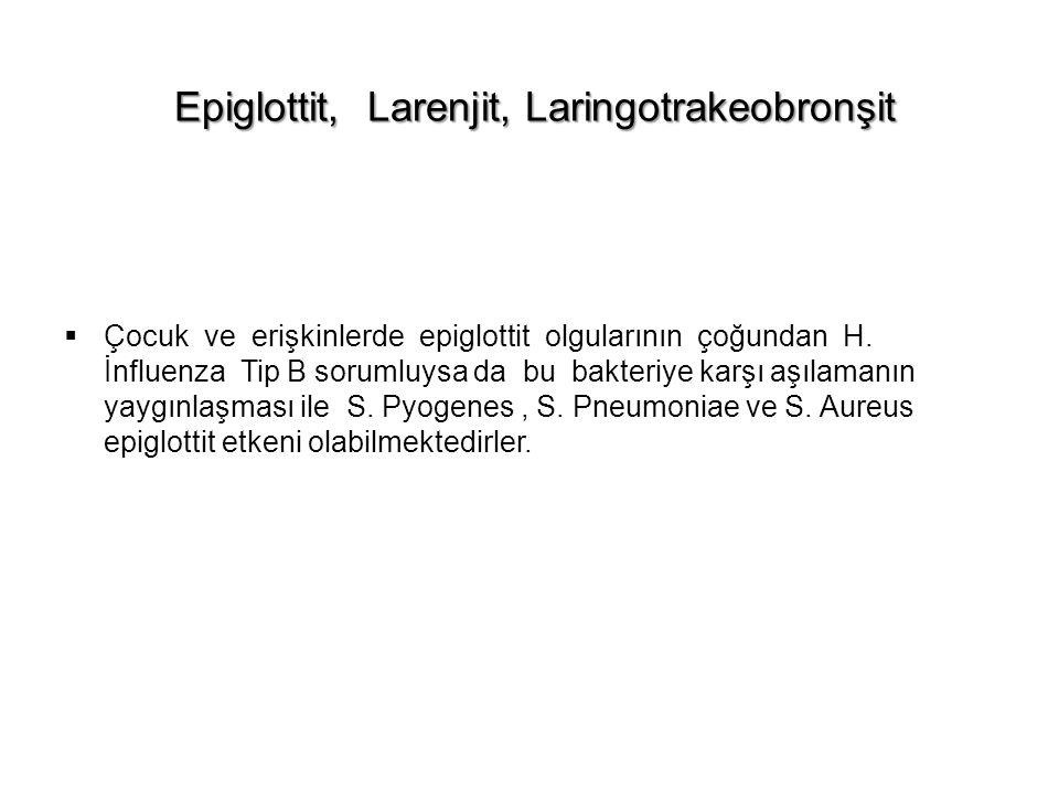 Epiglottit, Larenjit, Laringotrakeobronşit