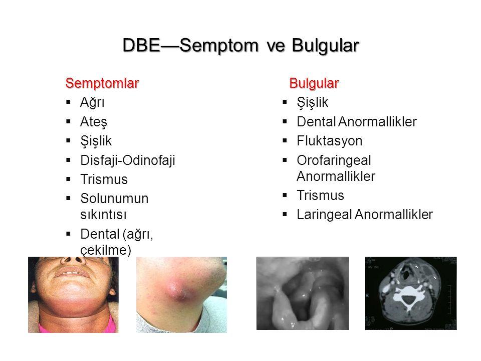 DBE—Semptom ve Bulgular