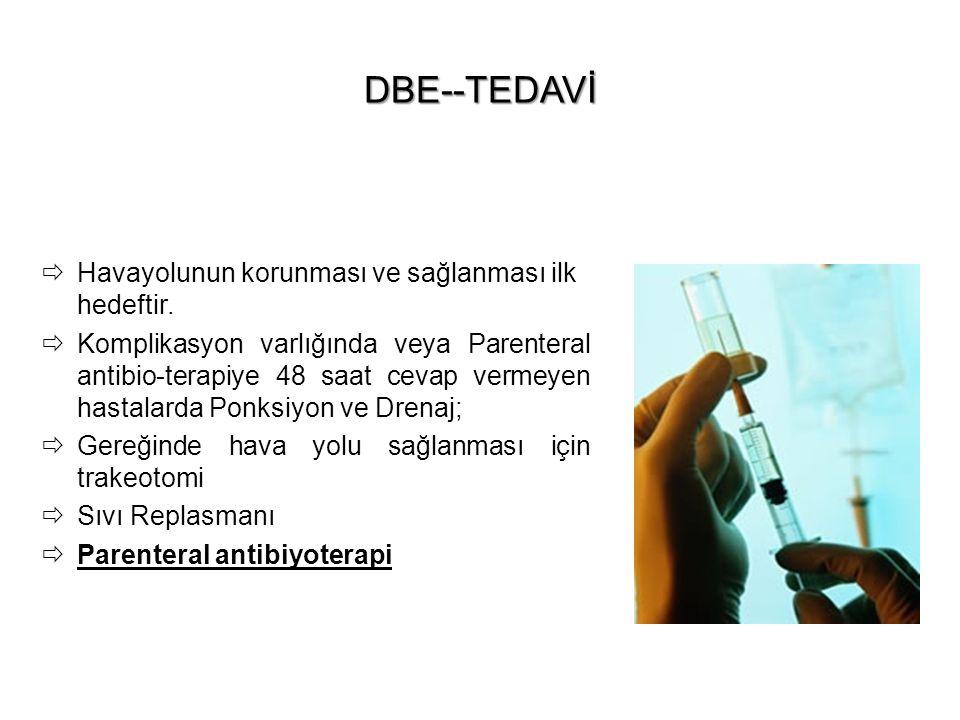 DBE--TEDAVİ Havayolunun korunması ve sağlanması ilk hedeftir.