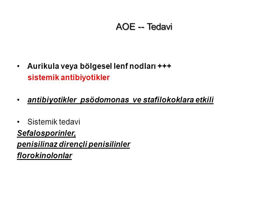 AOE -- Tedavi Aurikula veya bölgesel lenf nodları +++