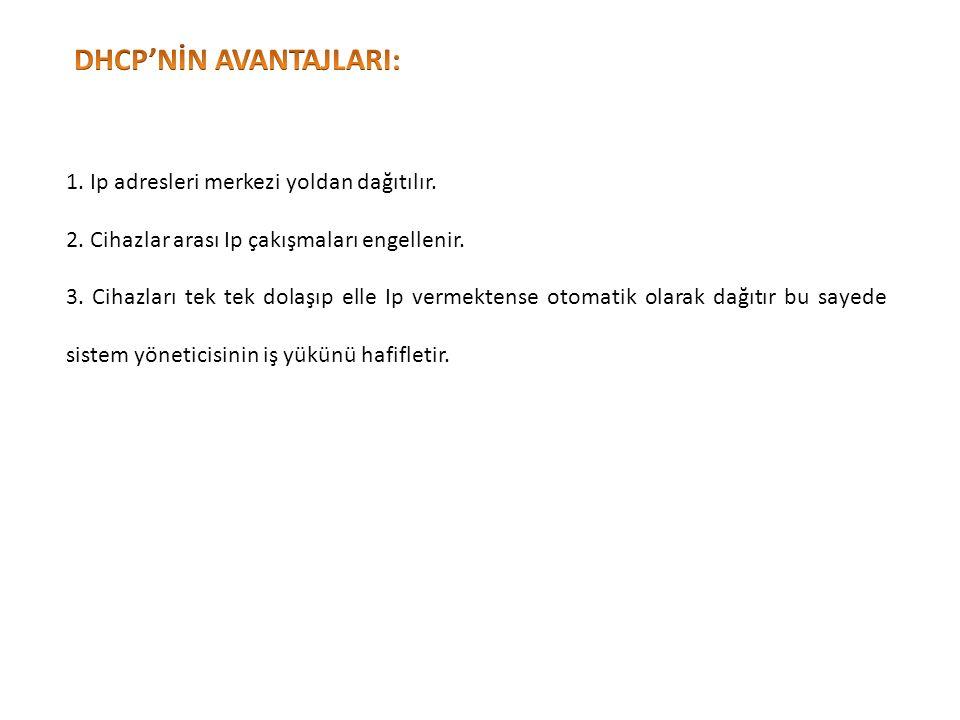 DHCP'NİN AVANTAJLARI: