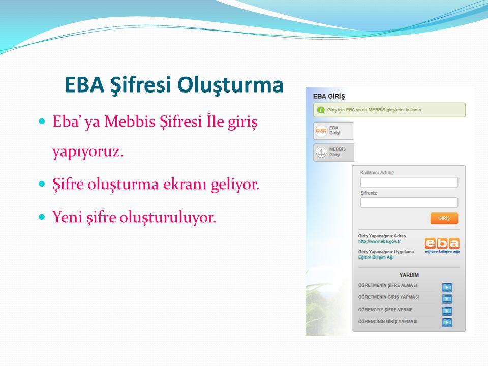 EBA Şifresi Oluşturma Eba' ya Mebbis Şifresi İle giriş yapıyoruz.
