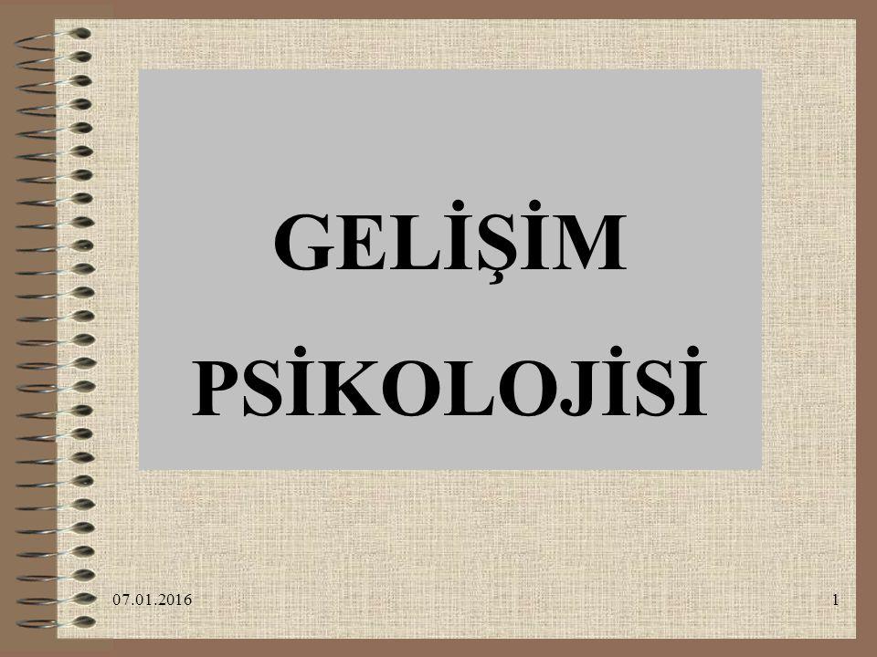 GELİŞİM PSİKOLOJİSİ 26.04.2017