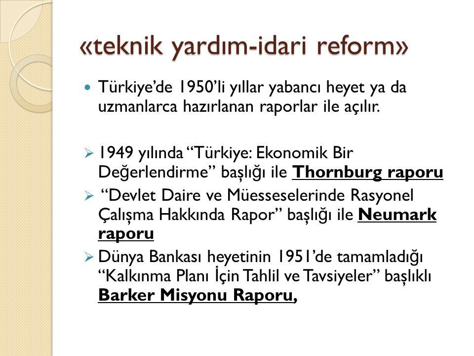 «teknik yardım-idari reform»