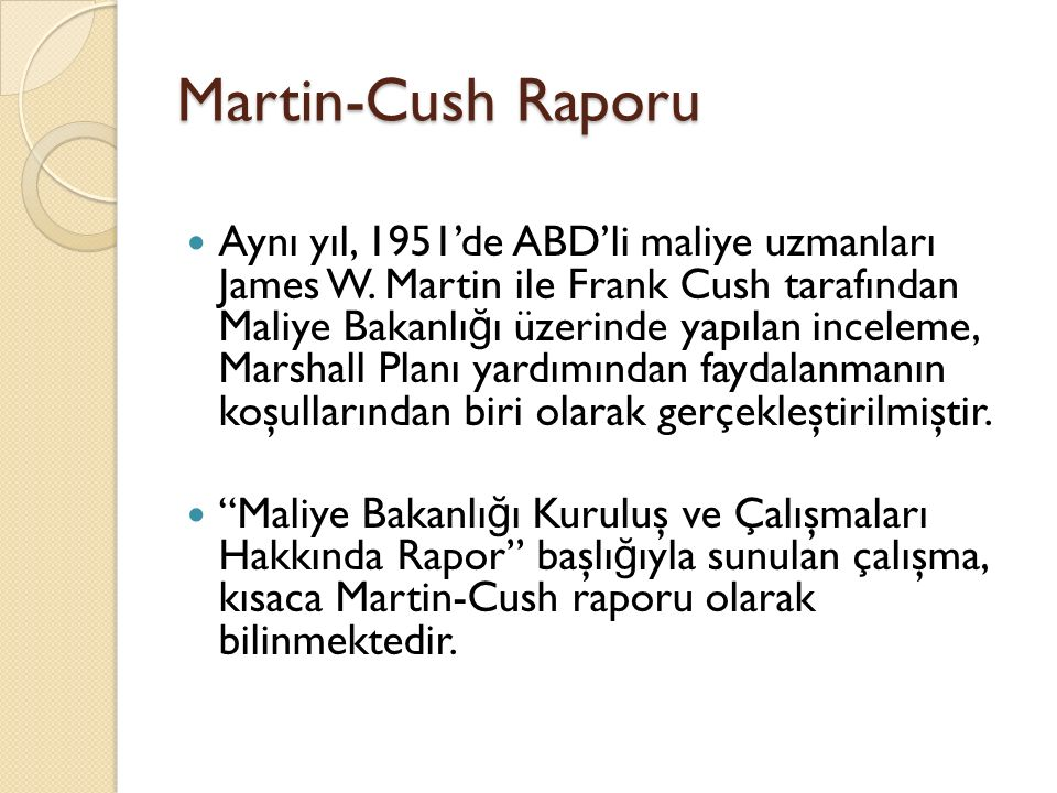 Martin-Cush Raporu