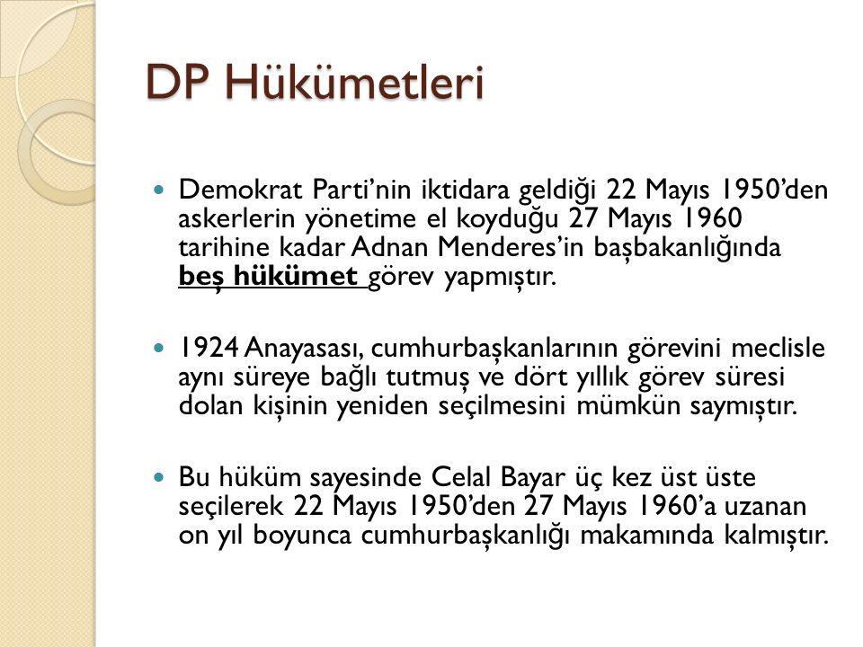 DP Hükümetleri