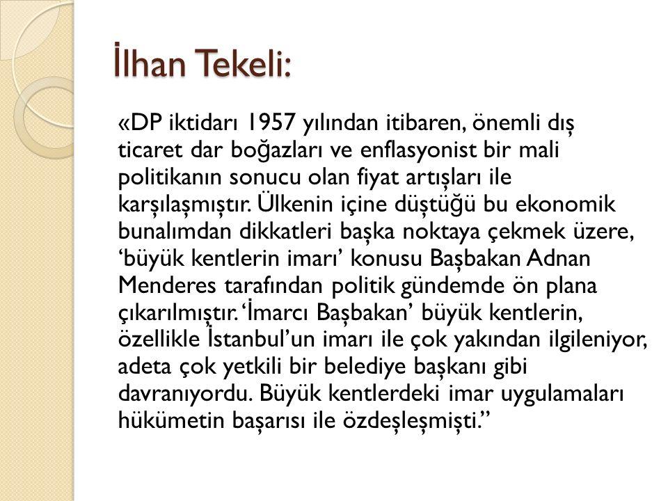 İlhan Tekeli: