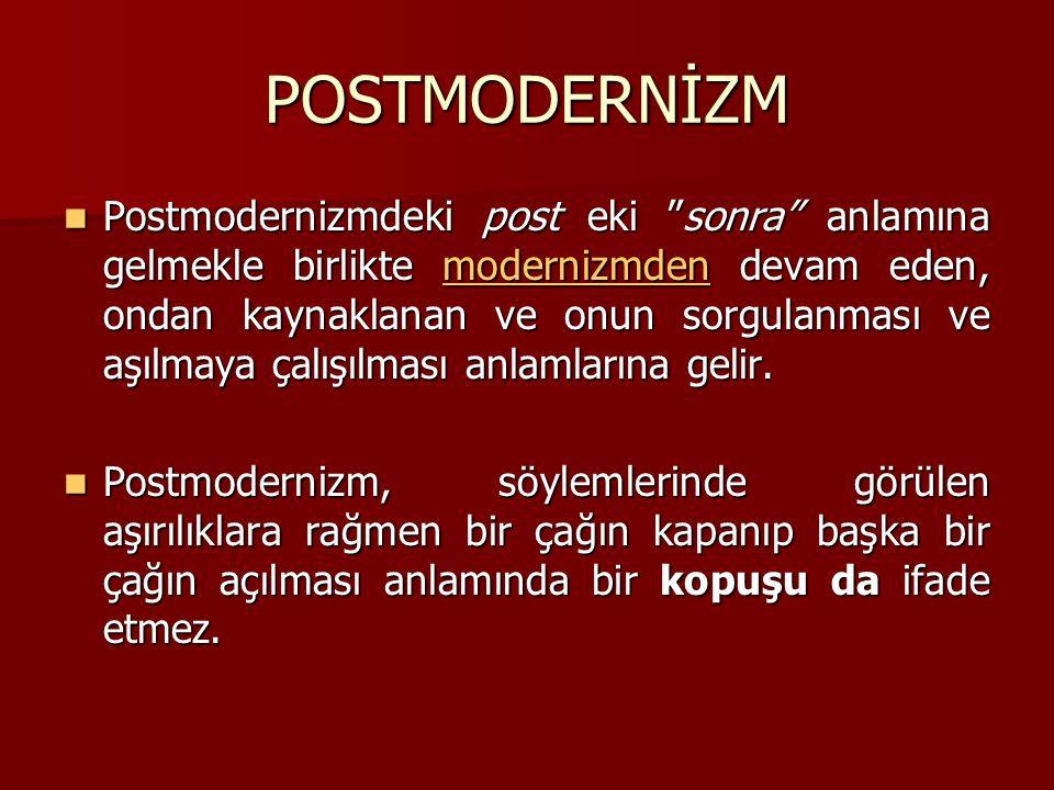POSTMODERNİZM
