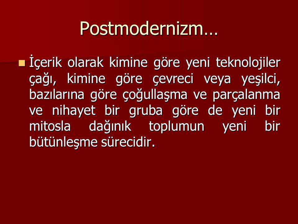 Postmodernizm…