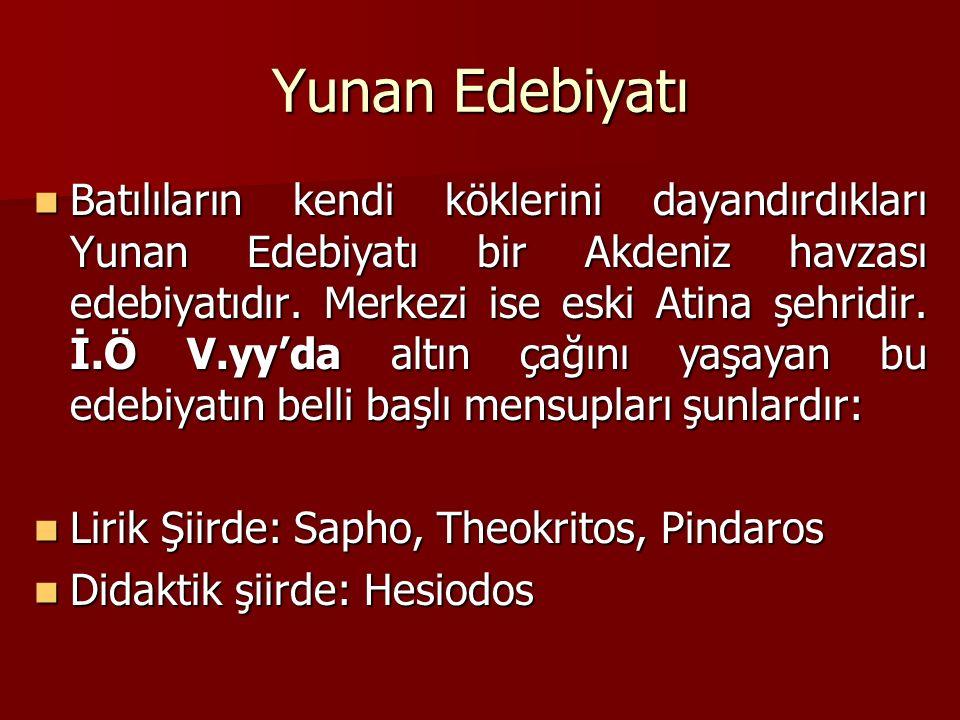 Yunan Edebiyatı