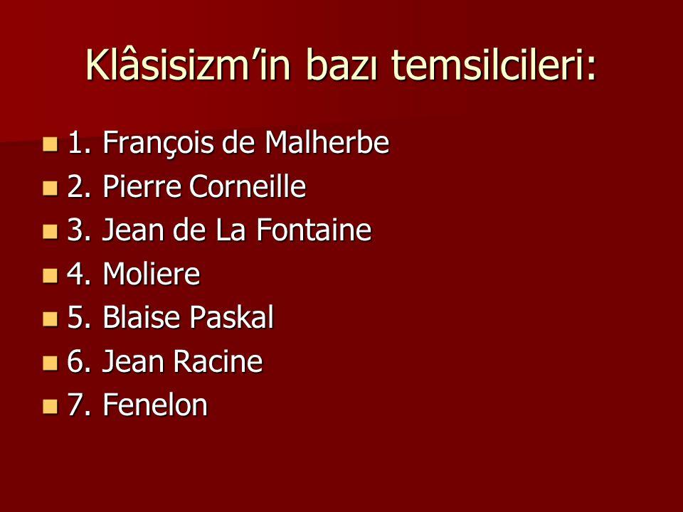 Klâsisizm'in bazı temsilcileri: