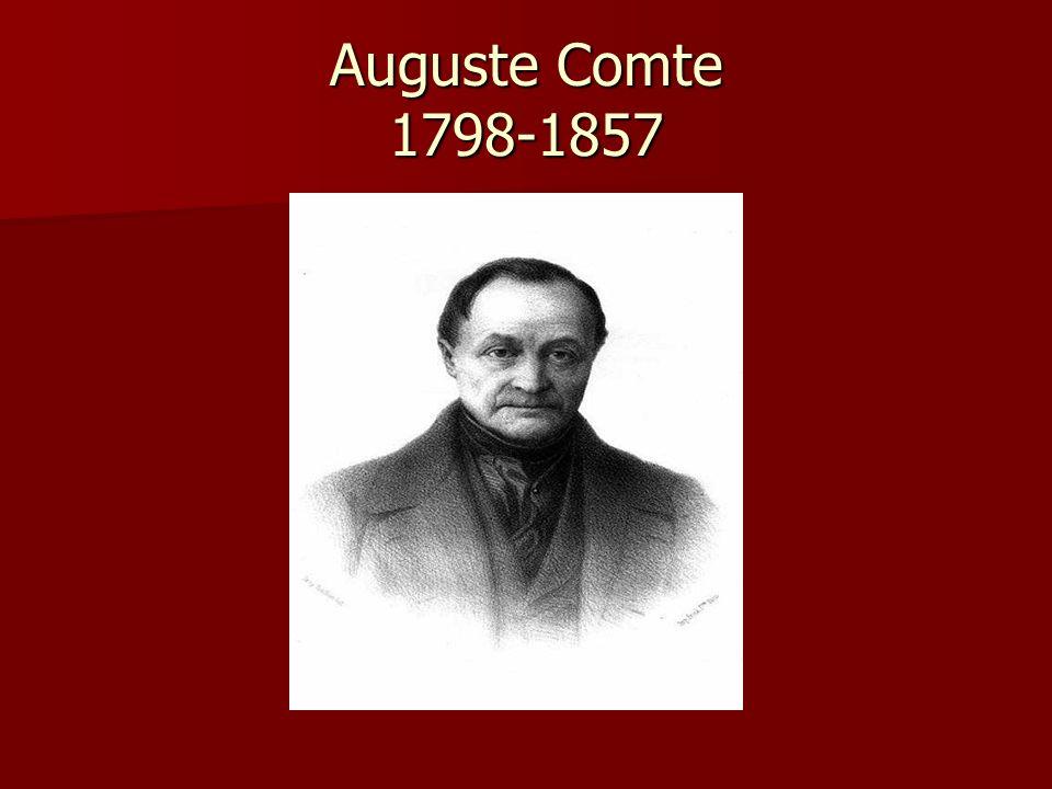Auguste Comte 1798-1857