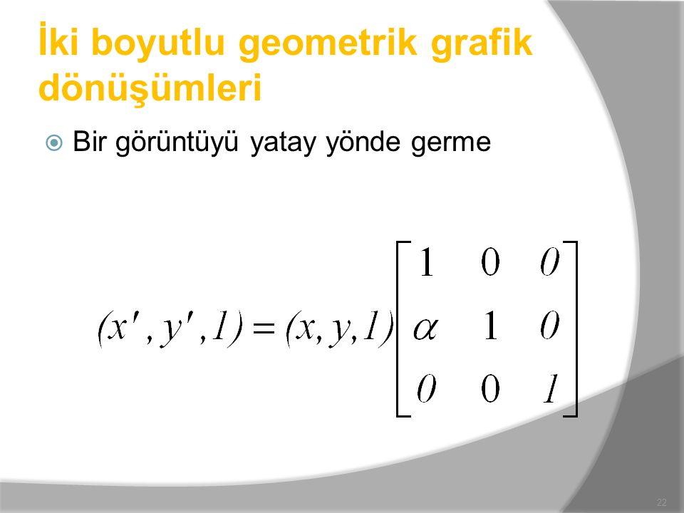 İki boyutlu geometrik grafik dönüşümleri
