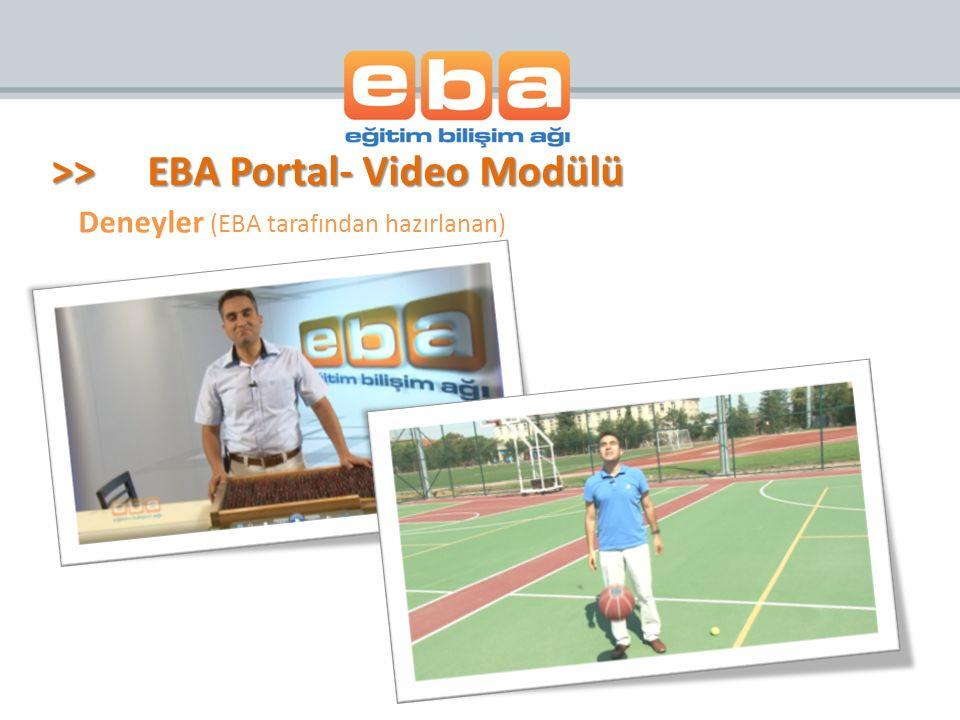 Deneyler (EBA tarafından hazırlanan)