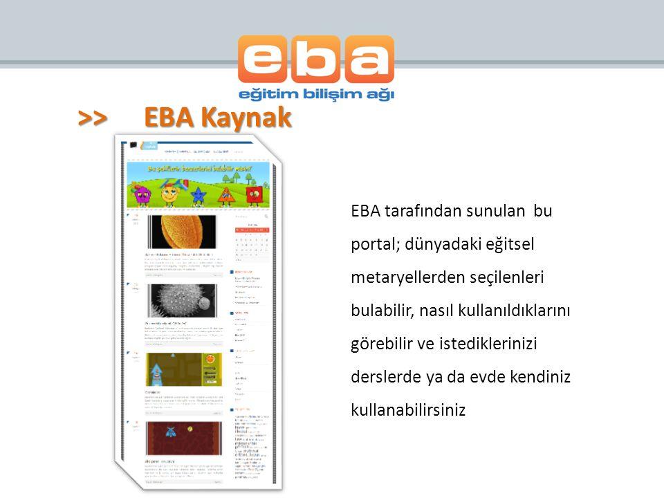 >> EBA Kaynak