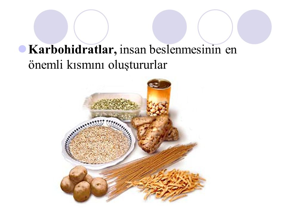 Karbohidratlar, insan beslenmesinin en önemli kısmını oluştururlar