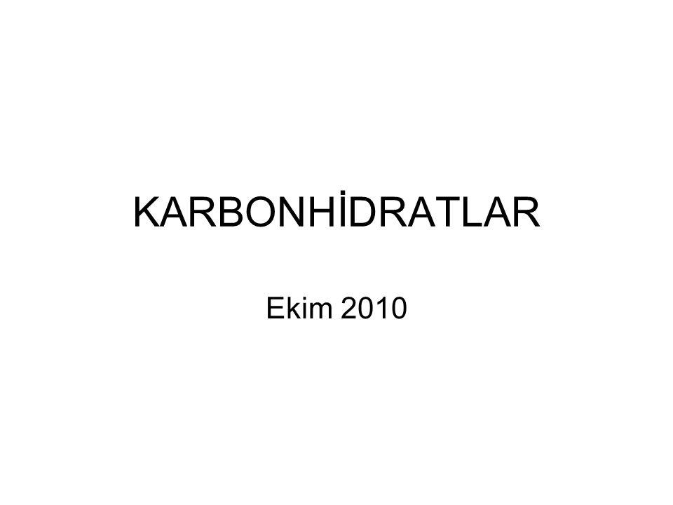 KARBONHİDRATLAR Ekim 2010