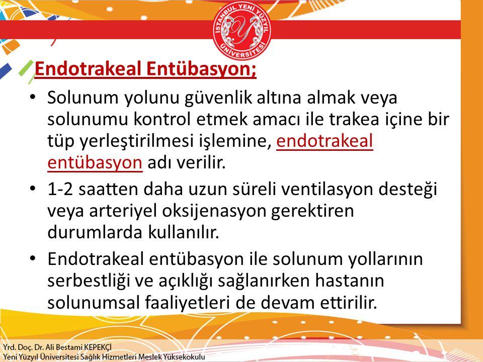 Endotrakeal Entübasyon;