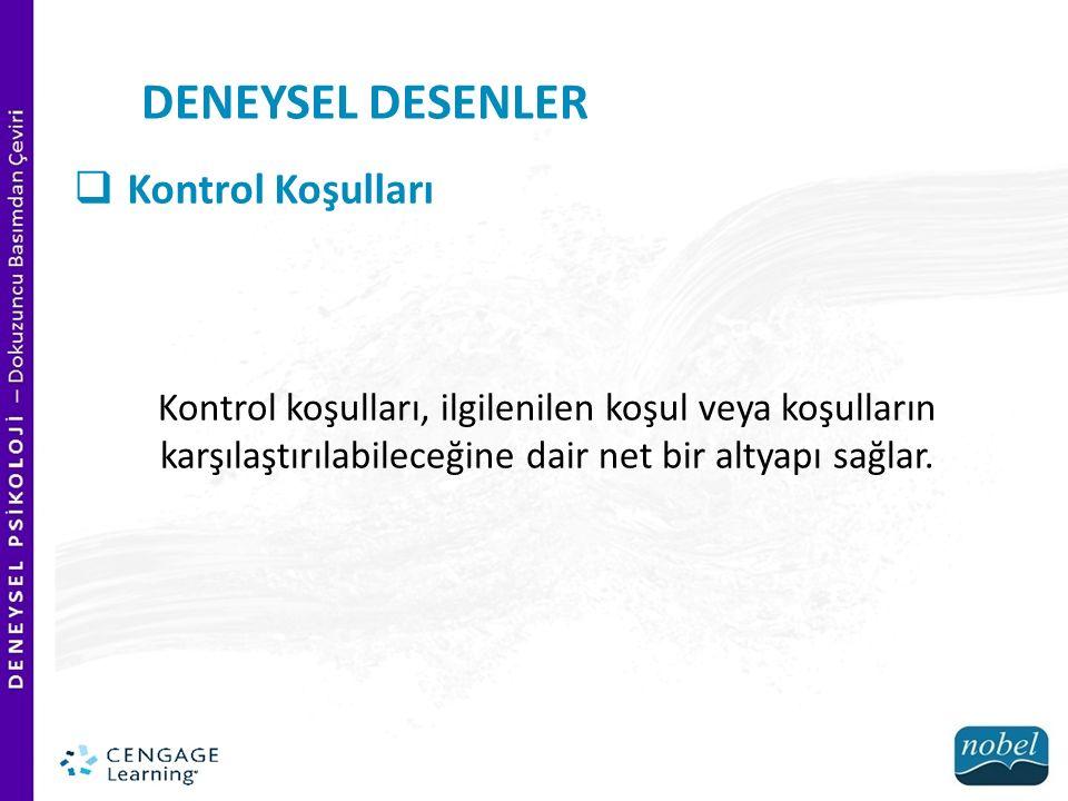 DENEYSEL DESENLER Kontrol Koşulları