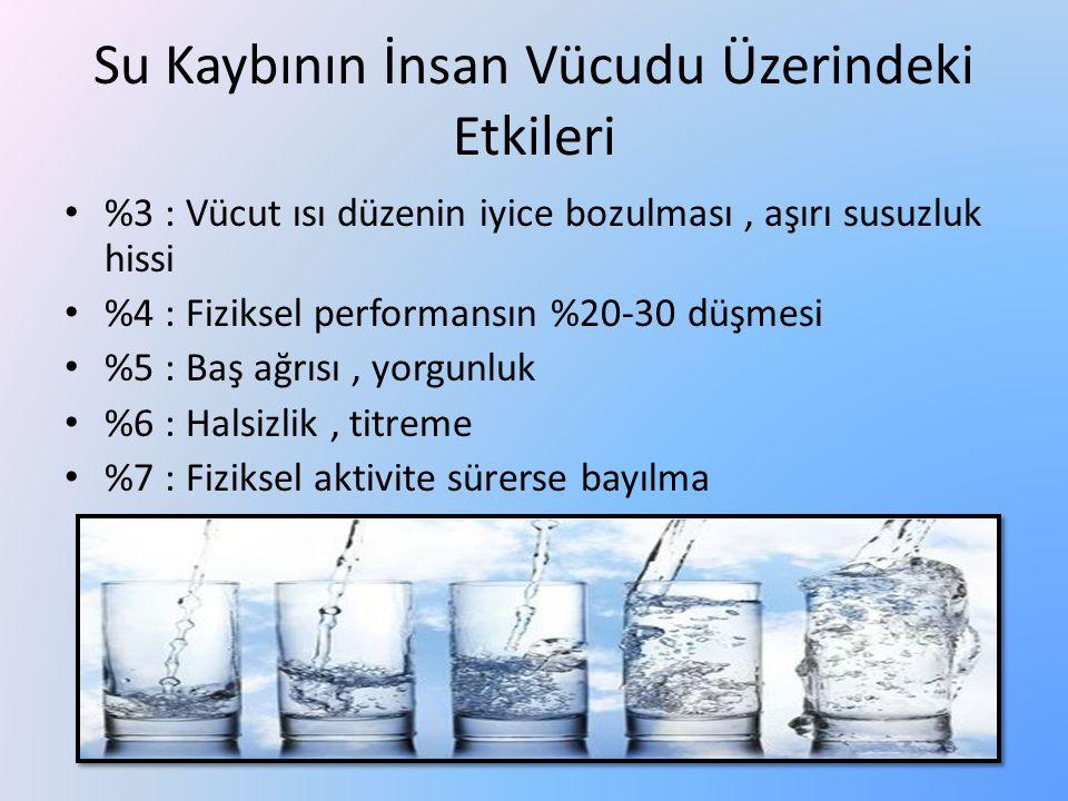 Su Kaybının İnsan Vücudu Üzerindeki Etkileri