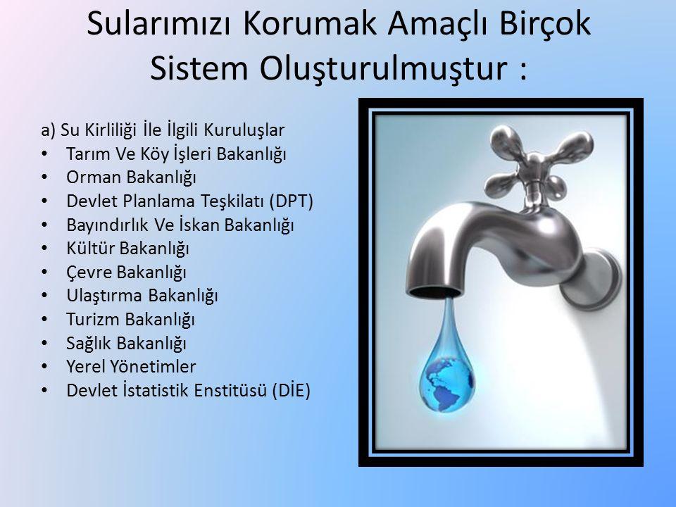 Sularımızı Korumak Amaçlı Birçok Sistem Oluşturulmuştur :