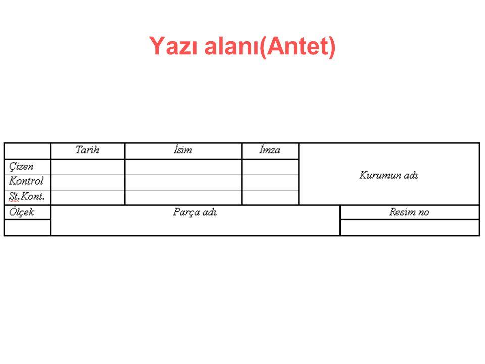 Yazı alanı(Antet)