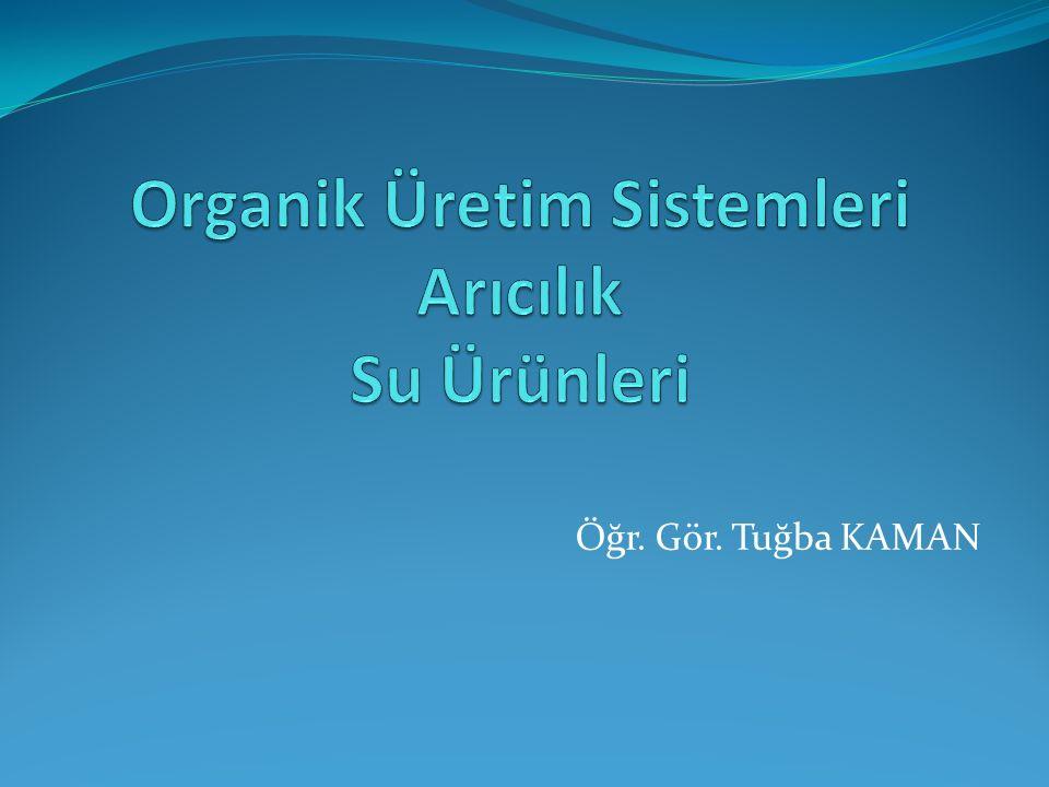 Organik Üretim Sistemleri Arıcılık Su Ürünleri