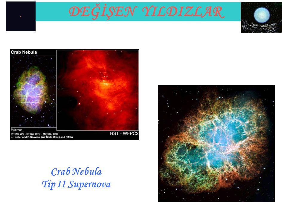 DEĞİŞEN YILDIZLAR Crab Nebula Tip II Supernova