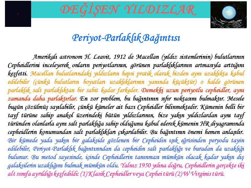 Periyot-Parlaklık Bağıntısı