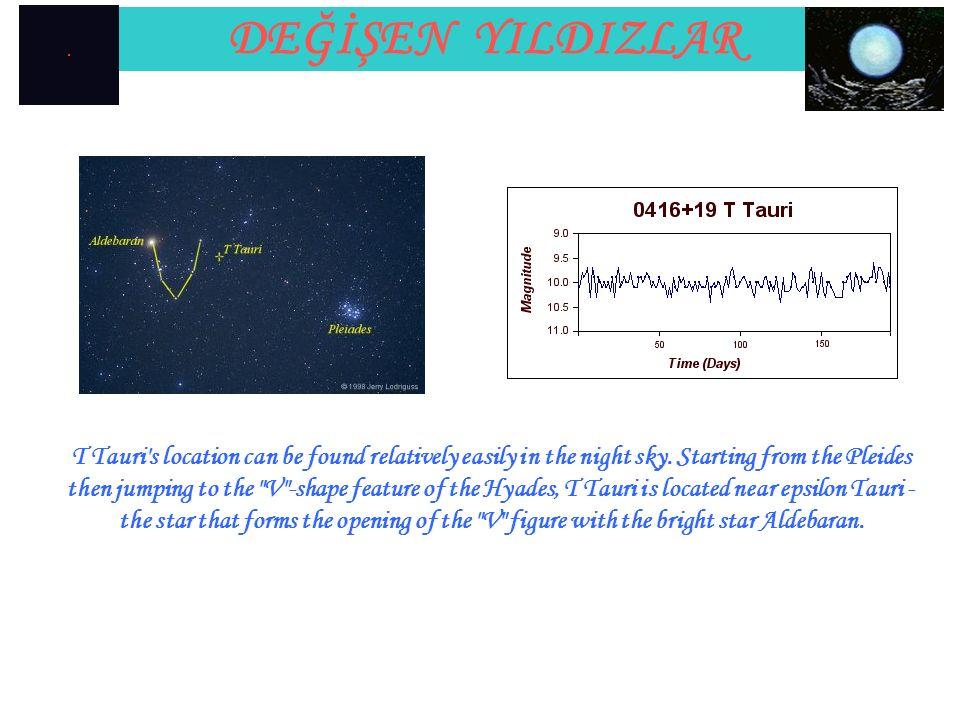 DEĞİŞEN YILDIZLAR Observing T Tauri.