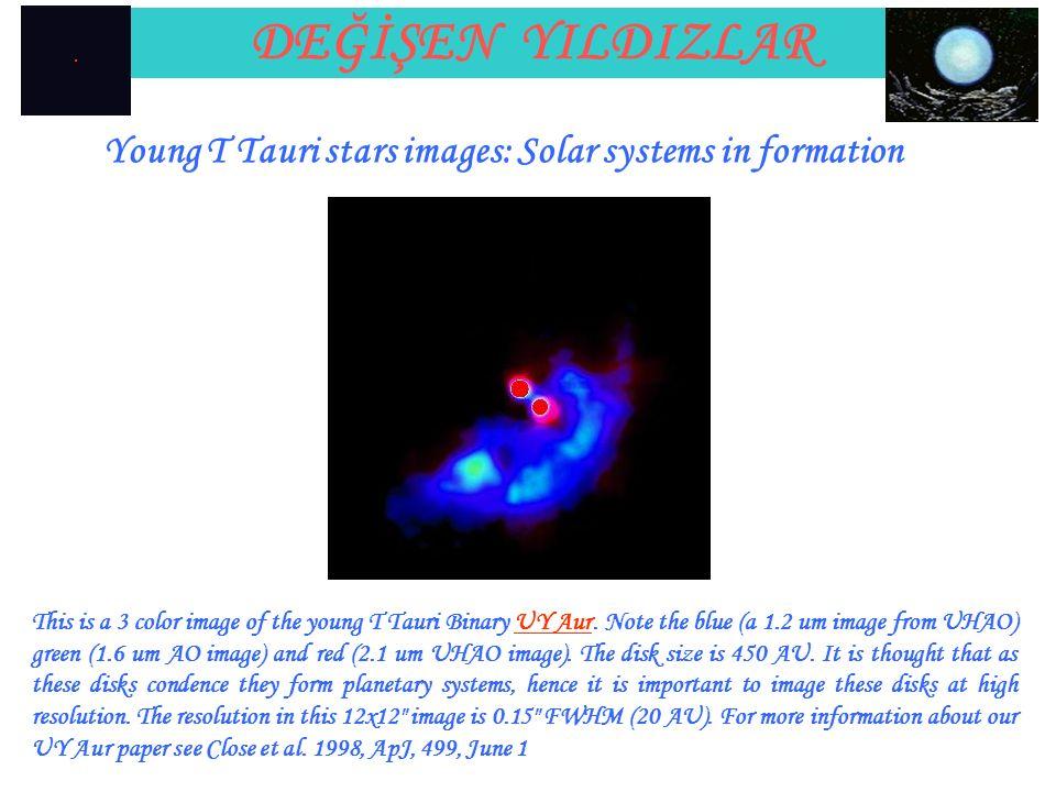 DEĞİŞEN YILDIZLAR Young T Tauri stars images: Solar systems in formation.