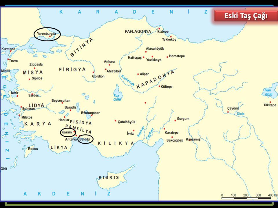 Eski Taş (Paleolitik-Kabataş) Çağı (MÖ 600.000 - 10.000):