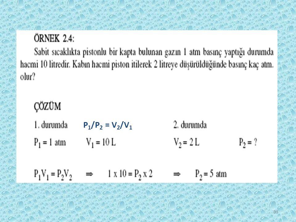 P1/P2 = V2/V1