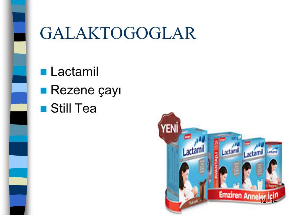GALAKTOGOGLAR Lactamil Rezene çayı Still Tea