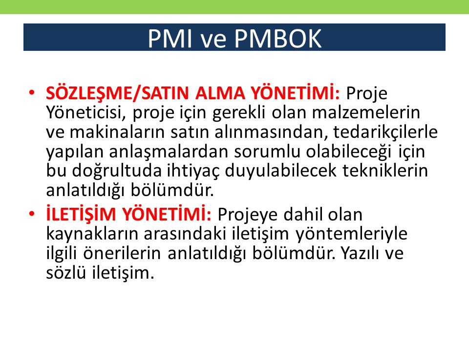 PMI ve PMBOK