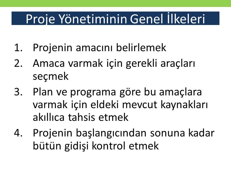 Proje Yönetiminin Genel İlkeleri