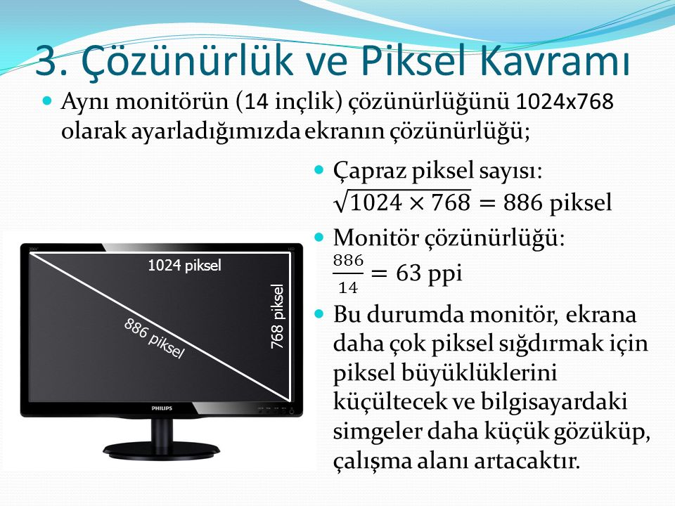 3. Çözünürlük ve Piksel Kavramı