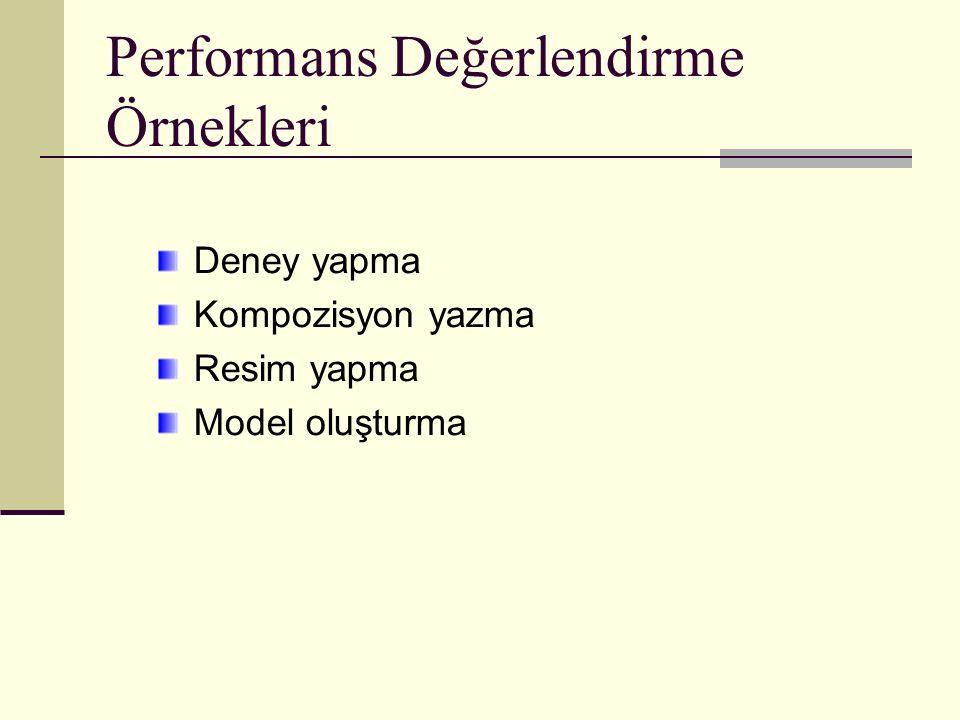 Performans Değerlendirme Örnekleri